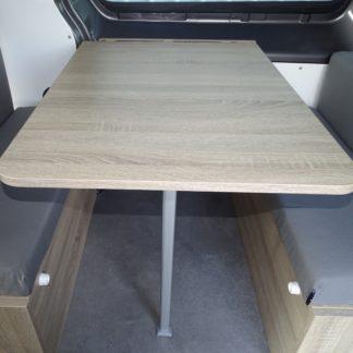 Table avec rail et panneau mural de fixation